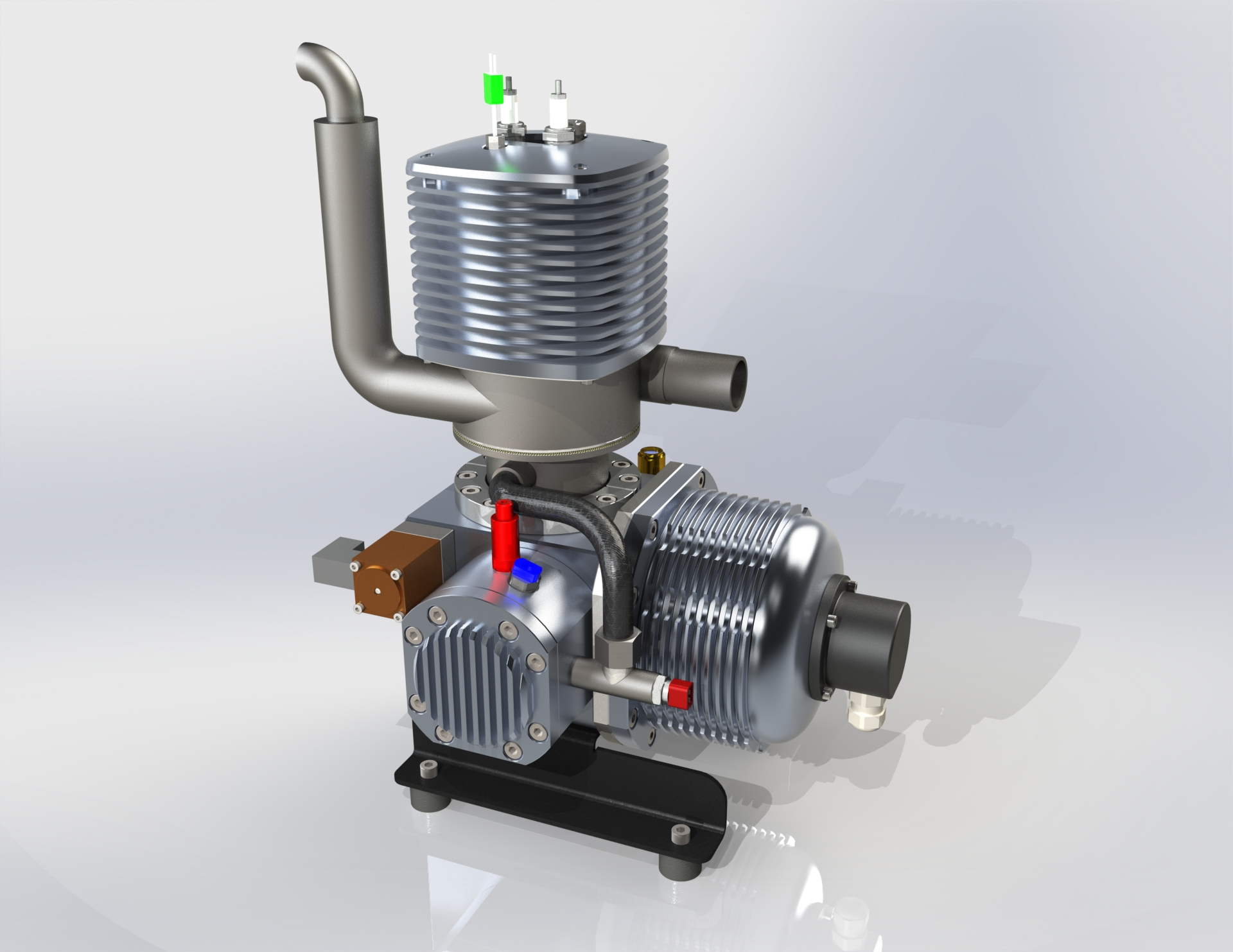 Stirling engines used as auxiliary power units