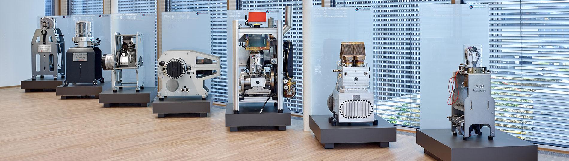 Frauscher Prototypen von Stirlingmotoren